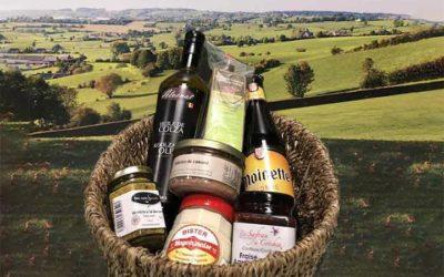 Geschenkmanden met specialiteiten uit Wallonië